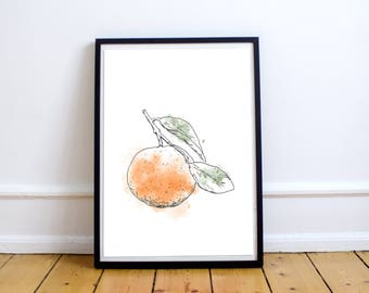 Clementine - Print 8 X 10 Illustration with watercolors