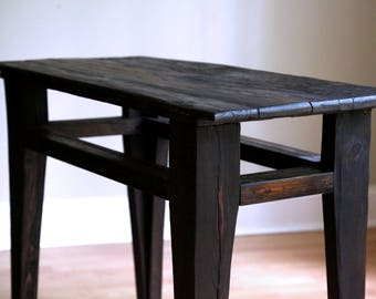 side table/hall table, reclaimed wood, oak top, pine frame