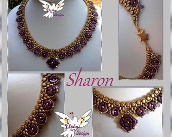 Collier SHARON; son tutoriel en PDF