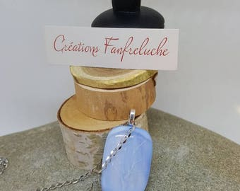 Tree of life pendant fusing blue powder