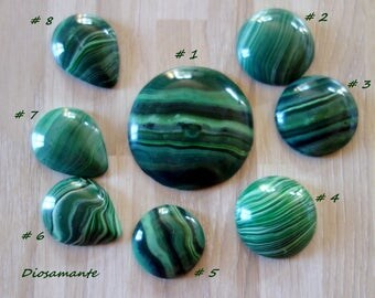 Polymer imitation Malachite cabochons