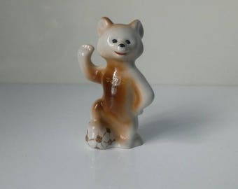 Porcelain Olympic bear, statuette Olympic bear, vintage porcelain, ceramic figure bear, the Soviet Olympic bear, vintage ceramic statuette