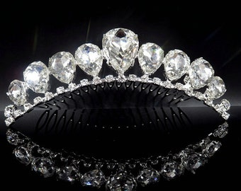 Hot Sale Tiaras And Crowns Girls Bridesmaid Bride Crown Tiara Comb Wedding Hair Accessories Bridal Hair Head Jewelry