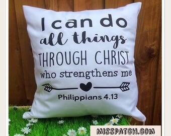Bible verse Scripture Cushion CoverPhilippians 4.3