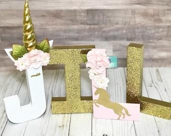 Unicorn Letters - nursery decor - Unicorn nursery - Unicorn Decorations - Unicorn birthday- unicorn Birthday Decor -