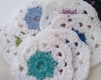 Crochet Coaster Set Cotton
