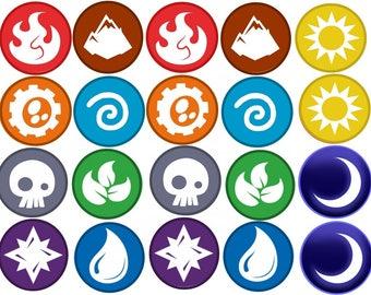 Skylanders Elements  Edible Images Cupcake, Cookie Toppers