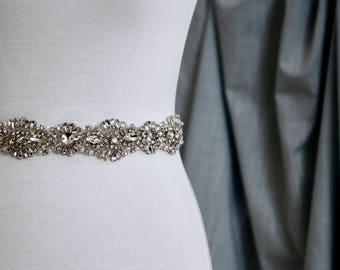 Bridal Belt, Bridal Sash, Wedding Belt, Wedding Sash Rhinestone and Pearl Sash