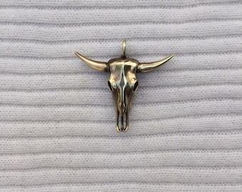 bull skull pendant jewellery