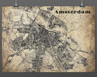 Amsterdam din a4/DIN A3-Print-Vintagestyle