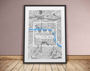 Saarbrücken-framed City-digital printing