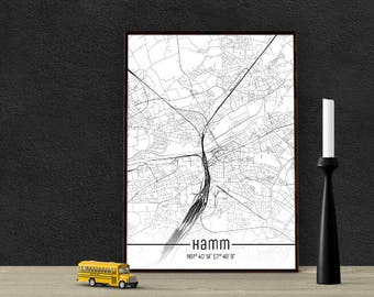 Hamm-Just a map-din A4/A3-Print