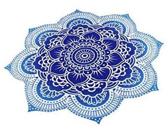 Lotus Roundie Mandala Throw Mediation Meditation Mat