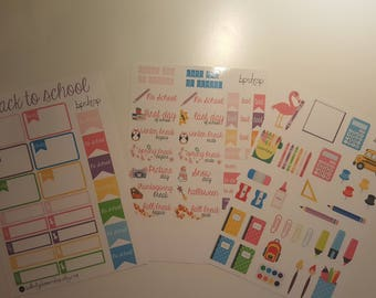 Back to school stickers decals for Planner