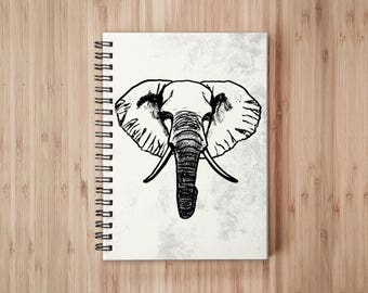Elephant Notebook/Sketchbook Wire Bound - Blank pages