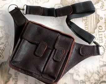 Кожаная-Сумка-На-Пояс / Leather waist bag