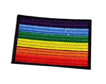 Rainbow Flag LGBTQ Pride Iron on Patch - H520