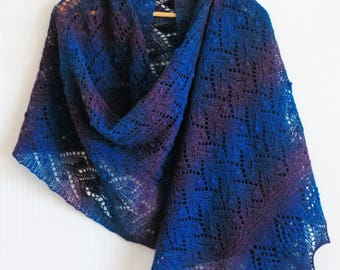 Lace handknitted tippet, shawl, stole