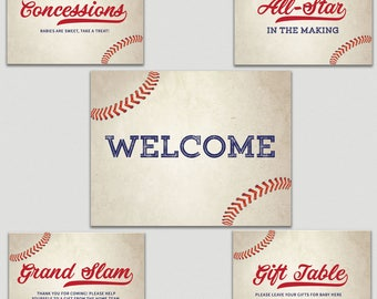 Baby Shower Signs, Little Slugger | Baseball | Baby Boy | Baby Girl