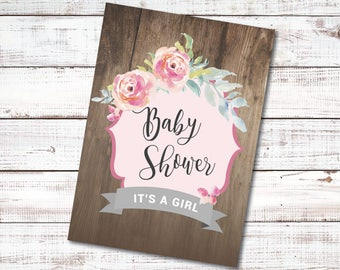 Baby Shower - It's A Girl Invitations