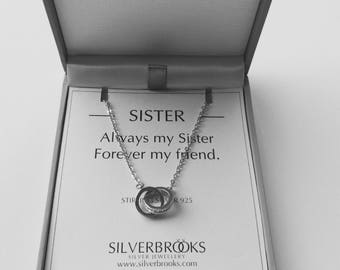 Sister Interlocking Circles Necklace