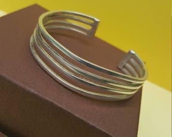 Sterling Silver Cuff Bracelet TC-167 Mexico