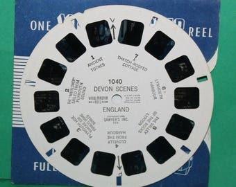 Vintage Sawyers Viewmaster Reel Devon Scenes England 1040