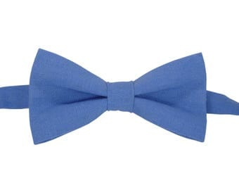 Blue Bow Tie for wedding linen bow tie for men bow tie Blue bow tie for baby Blue boy's bow tie men's bow tie toddler bow tie