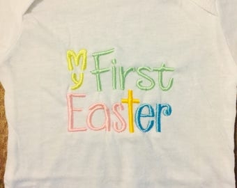 custom My First Easter embroidered onesie