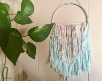 Mint Yarn Wall Hanging