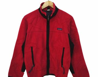 Hot Sale!!! Rare Vintage 90s PATAGONIA Fleece Jacket Outdoor Hip Hop Skate Swag Small Size