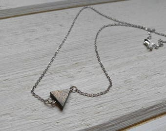 Grapite pendant/trangle necklace/gift for her