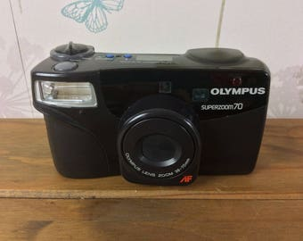 Olympus Superzoom 70 compact 35mm camera, in working order