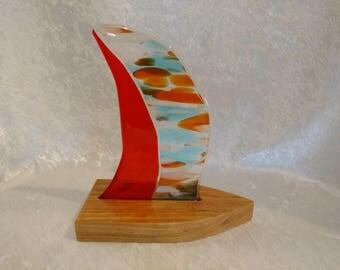 Fused Glass Sailboat