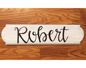 Last name monogram wood sign wall decor