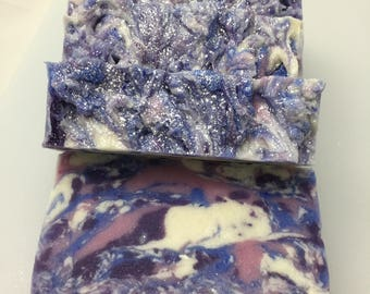 Pinkberry Soap - purple blue white and pink