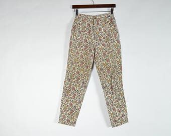Vintage High Waisted Floral Tapestry Mom Pants