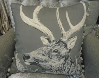 Voyage Decoration Cushion - Darby Charcoal C170132 - From the Natural History Collection.