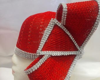 Red Twister with Rhinestones