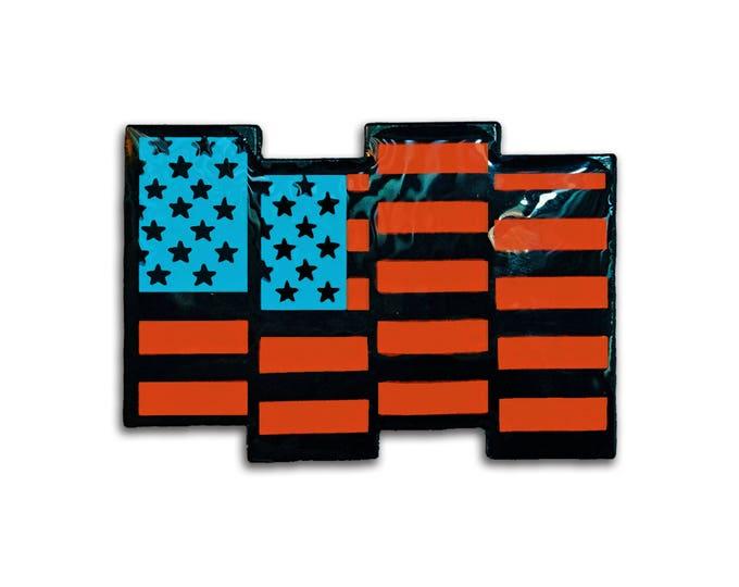 Black USA Flag Pin