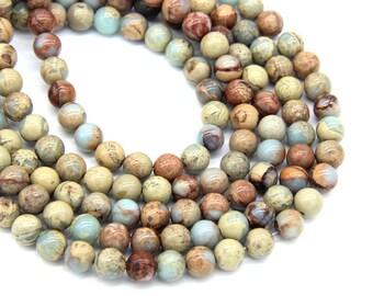 Natural Snake skin Jasper Beads 8mm Aqua Terra Jasper Beads Mala Beads Snakeskin Gemstone Beads Yellow Cream Stone Snakeskin Bracelet Beads