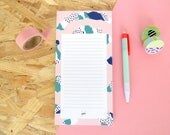 """Bloc-notes - Notepad """"Rosa"""" - 10,5 x 21 cm - 50 pages - Girly notepad"""
