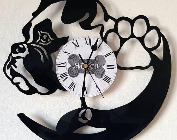 Vinyl 33 clock towers dog theme