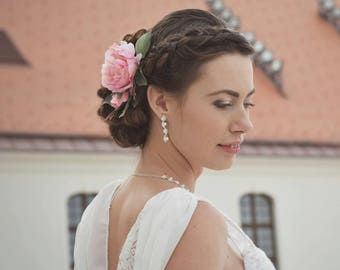 Flower headpiece, wedding boutonnieres, bridal headpiece, wedding headpiece, wedding hair accessories, flower hair clip