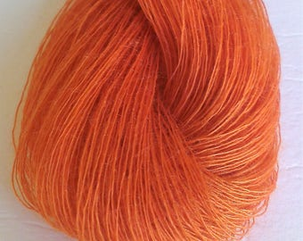 Golden Pumpkin Lace Weight Thread/Yarn Skein (300meters) Mixed Fibre Content