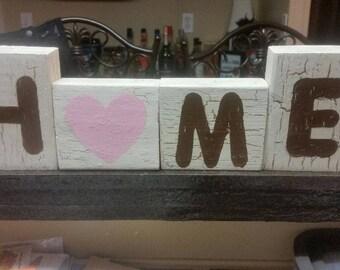 Reversible Home Love Blocks