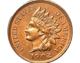 1902 Indian Head Cent - Choice BU / MS / Unc