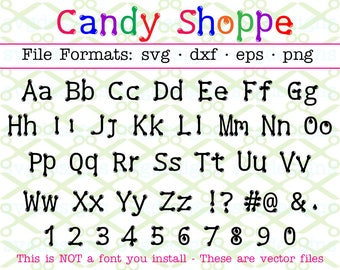 CANDY Shoppe Dots Font  Svg Letters, Dot Font Svg Dxf Eps, Png; Upper/Lower Case Bubble Dot Letters Numbers for Cricut Silhouette; SVG Files