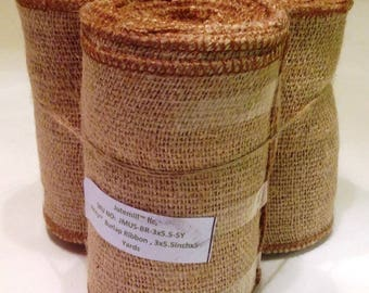 "AAYU's 3 Pack Burlap Ribbon Roll Wide | 2"" to 6"" 