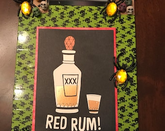 Red Rum Halloween Decor